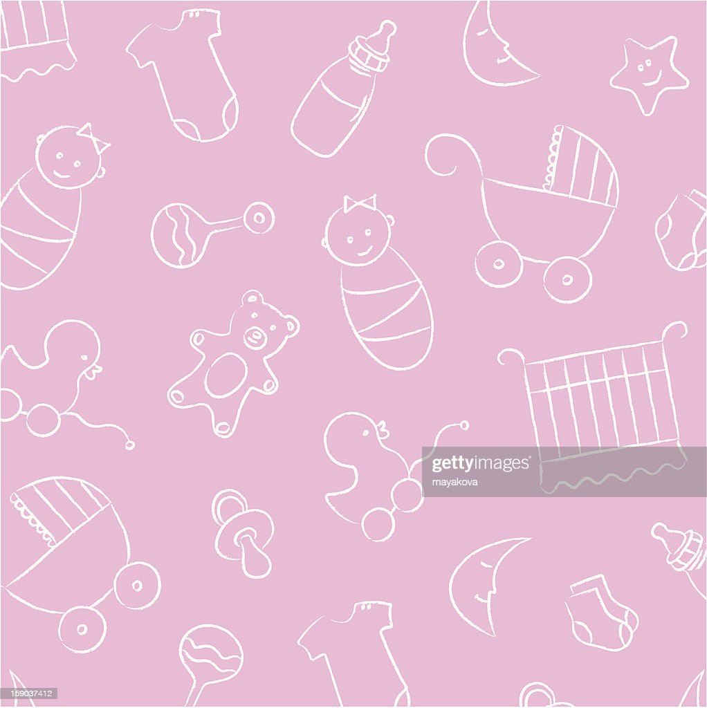 Pink Baby Girl Background Pattern