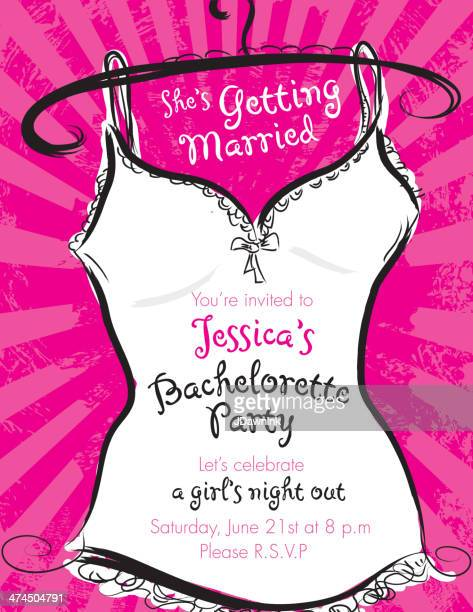 Pink bachelorette party invitation template