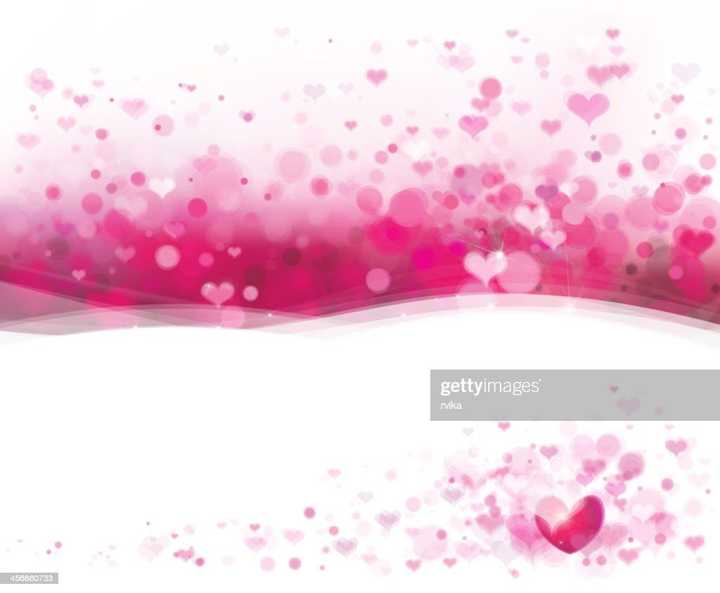 A pink background made of hearts for Valentine's Day