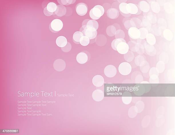 Pink background with white blotches and words