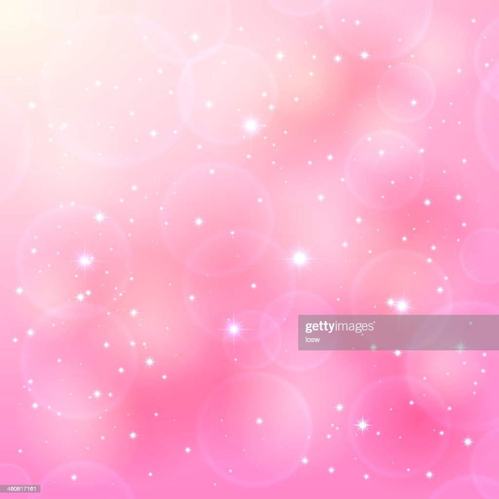 Pink background with white stars