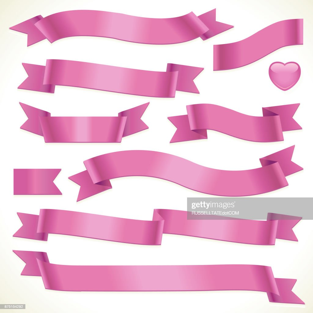 Pink banners and heart