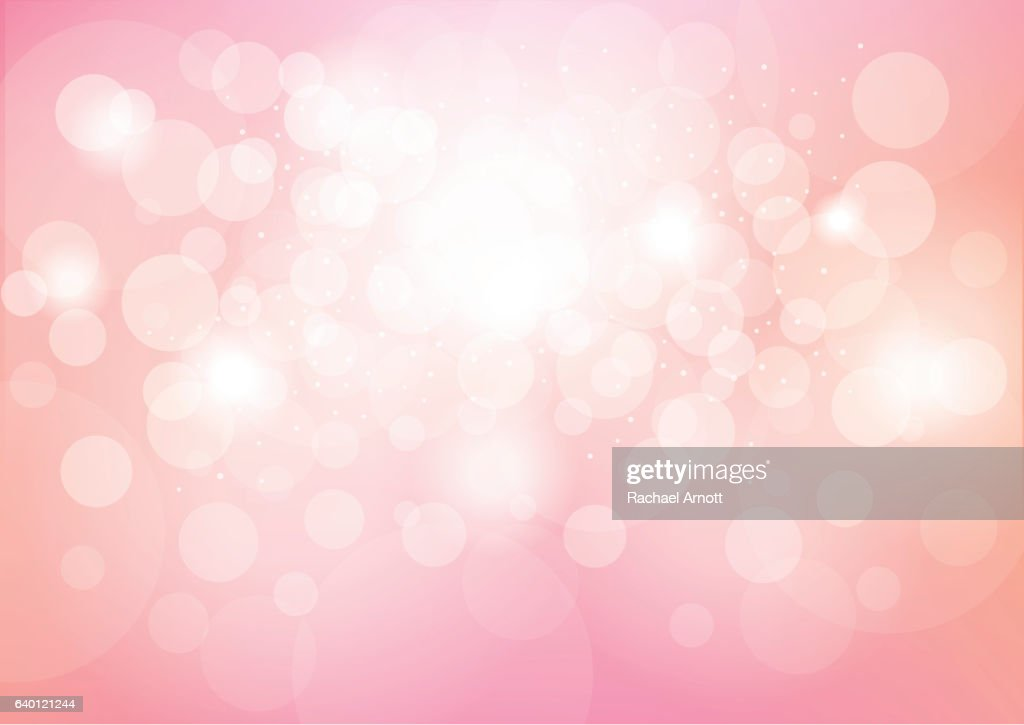 Pink Bokeh Effect Abstract Background