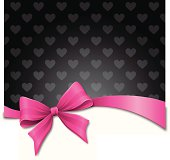 Pink Bow Heart Background