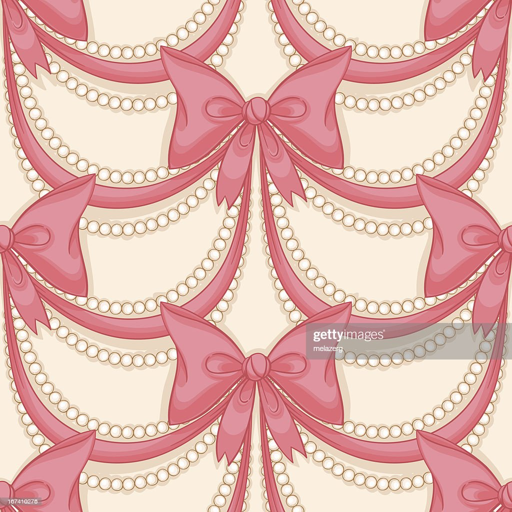 pink bows : Vector Art