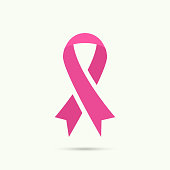 A pink breast cancer awareness ribbon