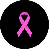A Pink Breast Cancer Awareness Ribbon