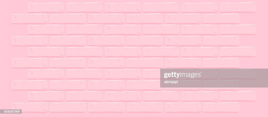 Pink brick wall texture.Cracked empty background. Grunge sweet wallpaper. Vintage stonewall.