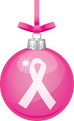 vector illustration shiny pink christmas ornament