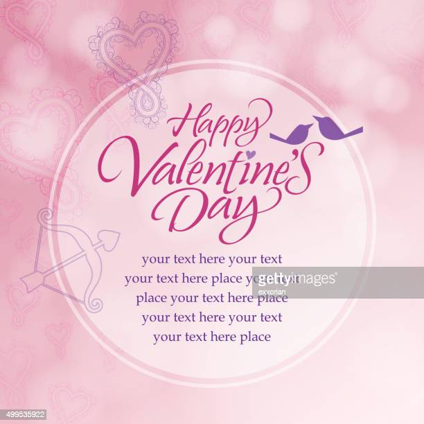 Pink color love message