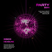 pink disco ball party background2