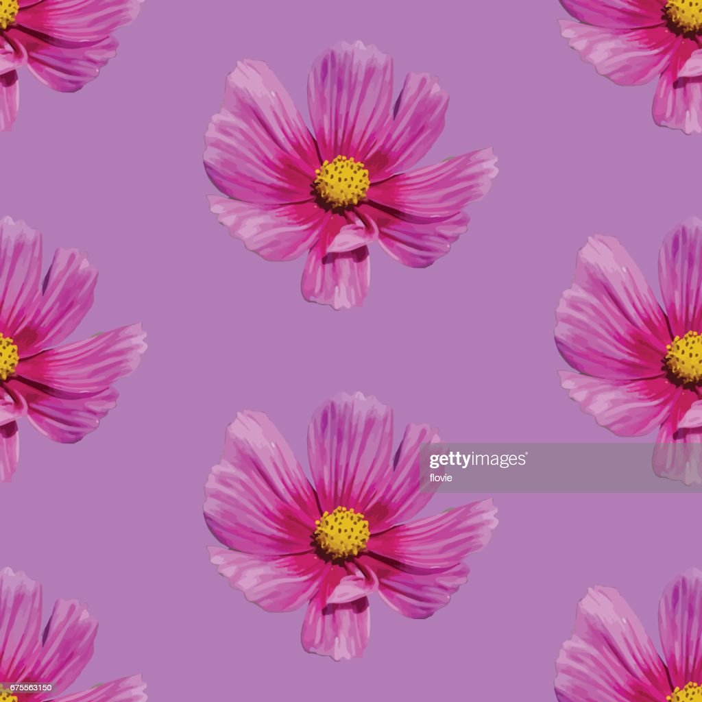 Pink floral seamless background.