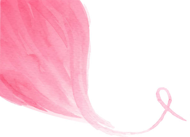 pink flow ribbon - pink stock illustrations