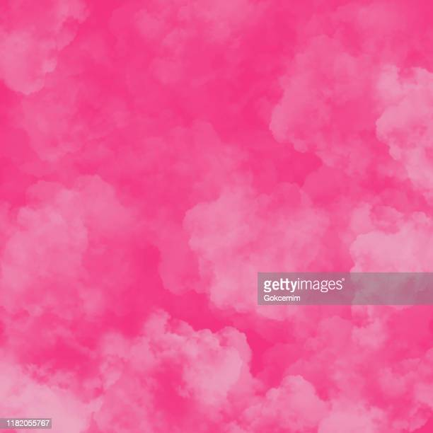 illustrazioni stock, clip art, cartoni animati e icone di tendenza di pink fog or smoke background. pink vector cloudiness, mist or smog background. design element for greeting cards and labels, marketing, business card abstract background. - vapore