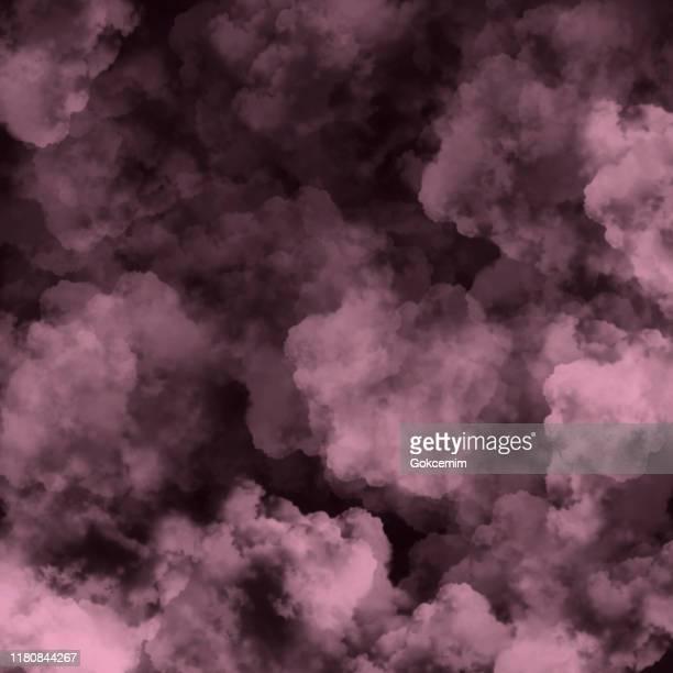 黒い背景を持つピンクの霧や煙。ピンクベクトル曇り、ミストやスモッグの背景。グリーティング カードとラベル、マーケティング、名刺の抽象背景のデザイン要素。 - 有害物質点のイラスト素材/クリップアート素材/マンガ素材/アイコン素材