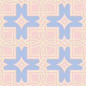 Pink geometric seamless background. Multi colored pattern