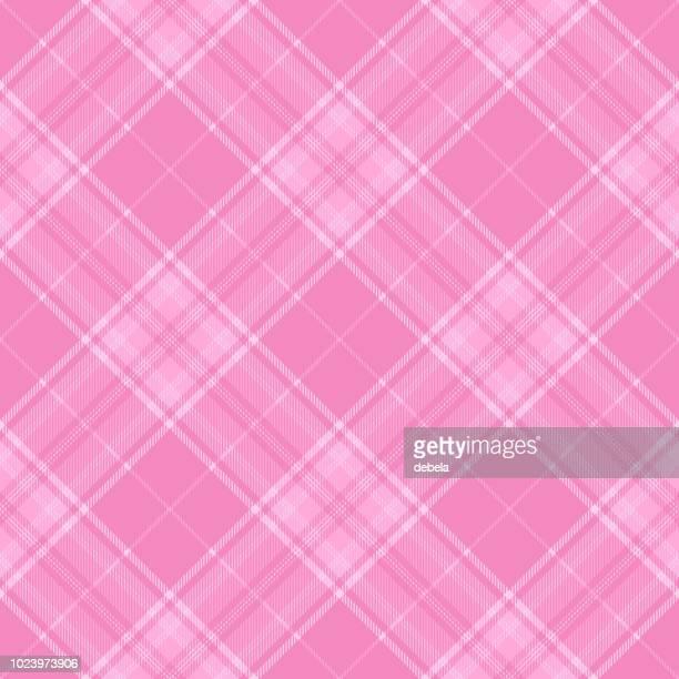 pink girlie tartan plaid pattern - pink skirt stock illustrations