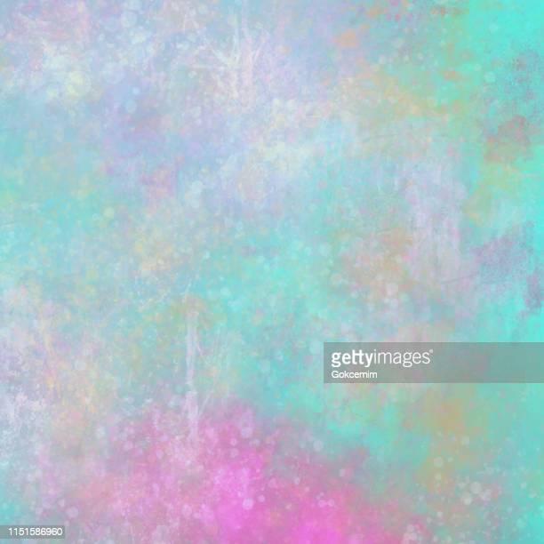 ilustraciones, imágenes clip art, dibujos animados e iconos de stock de rosa, verde y púrpura textura de pared metálica abstracta. grunge vector background. - mala condición
