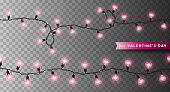 Pink heart shaped lights
