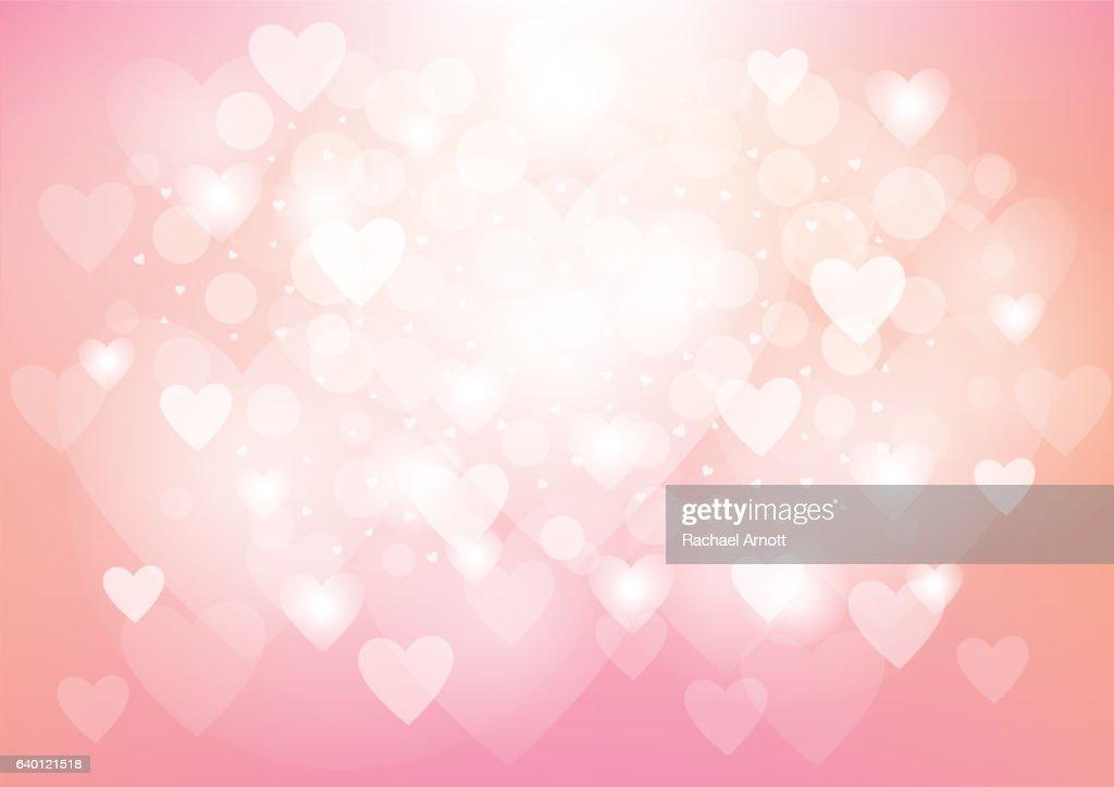 Pink Heart Valentine's Day Background