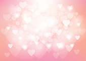 Pink Heart Valentine's Day Background