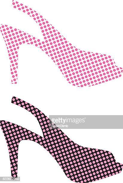 Pink High Heel Shoe Icons