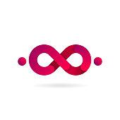 Pink Infinity symbol. Vector icon. icon design.