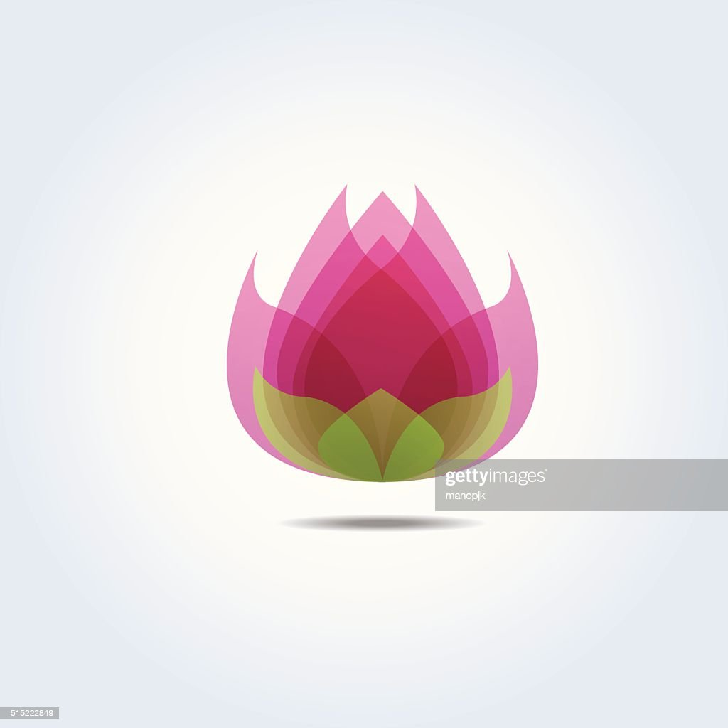 Pink Lotus Flower Icon Vector Illustration Vector Art Getty Images