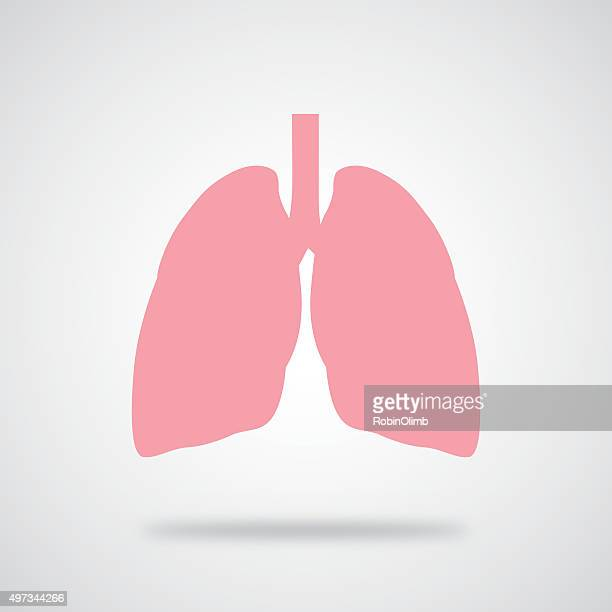 pink lungs icon - lung stock illustrations