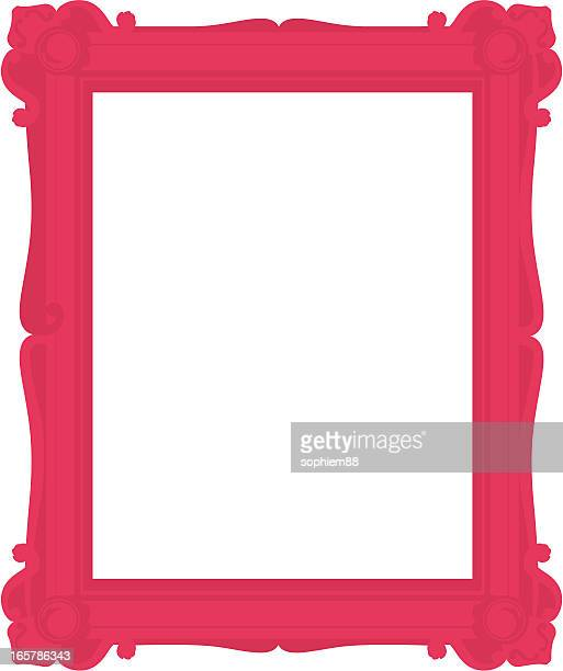 Pink ornate picture frame