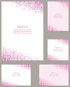 Pink page corner design template