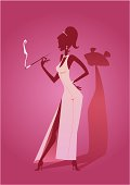 Pink Panther Lady Silhouette