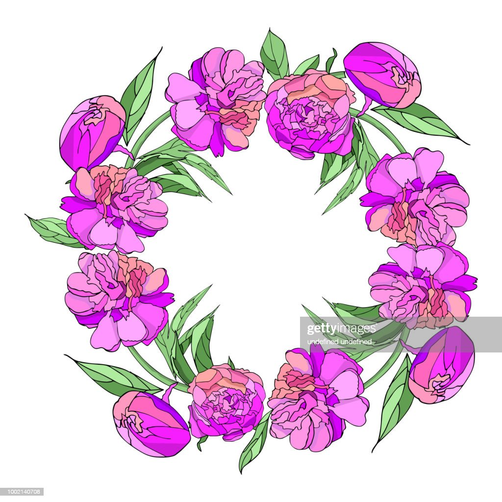 Pink Peony Wreath