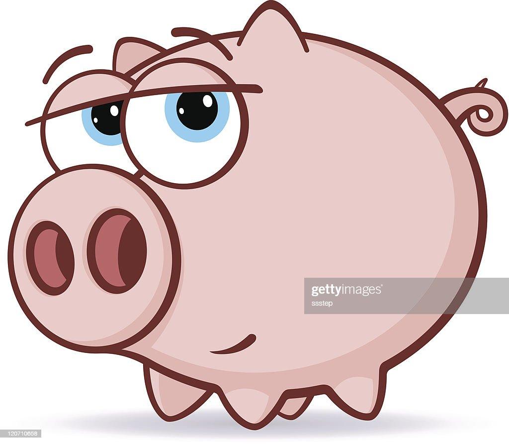 Pink Pig Illustration
