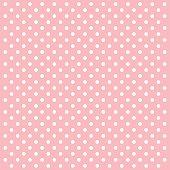 Pink Polka Dots Vector Background - VECTOR