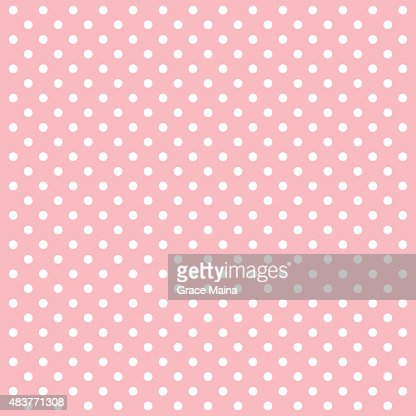Pink polka dots vector background vector vector art getty images voltagebd Choice Image