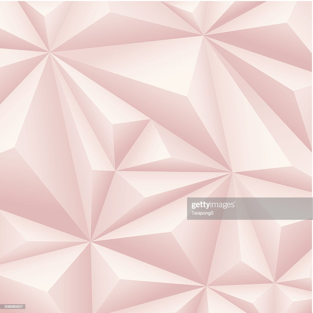 Pink polygon background.