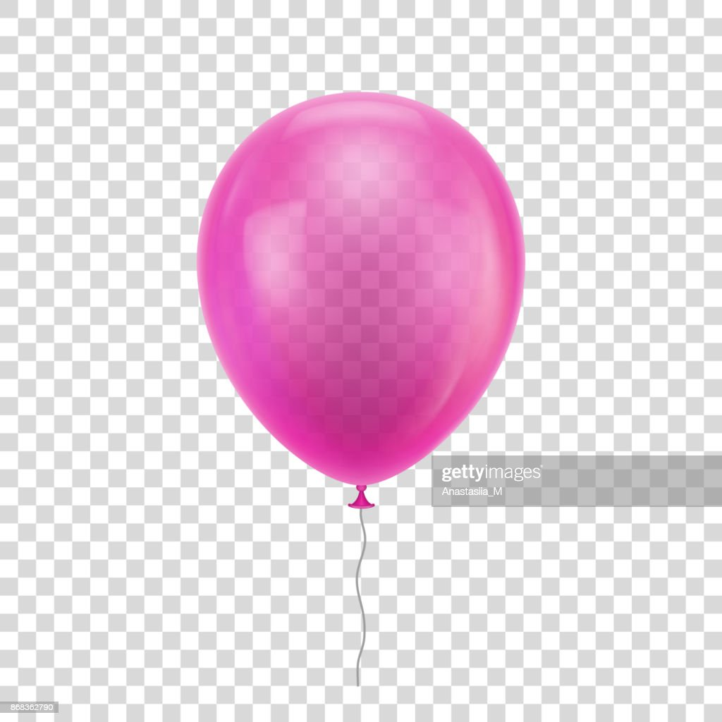 Pink realistic balloon.