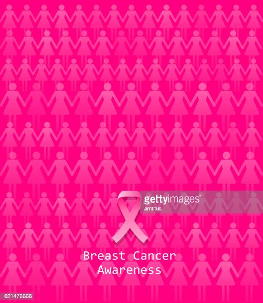 pink ribbon awareness bg - sensibilisierung für brustkrebs stock-grafiken, -clipart, -cartoons und -symbole