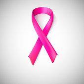 Pink ribbon loop.