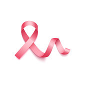 Pink ribbon - symbol of breast cancer awareness month