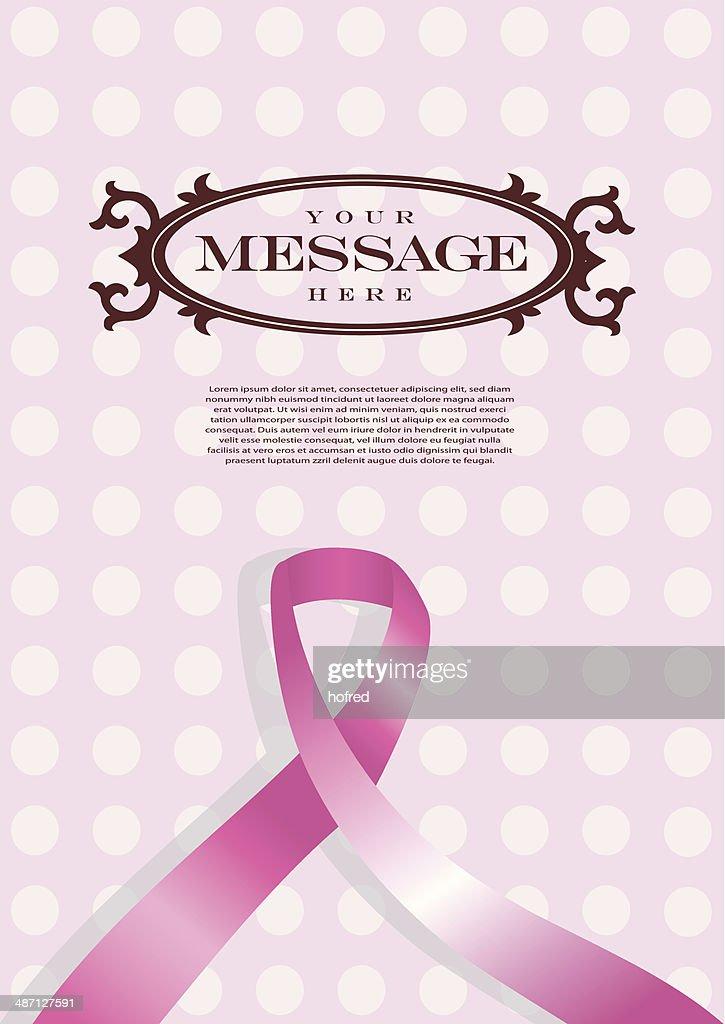 Pink Ribbon Vector Layout