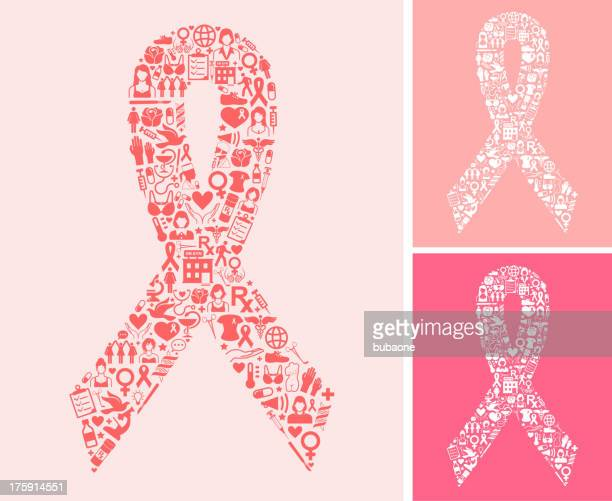 Pink Ribbons Set and Breast Cancer Awareness Month