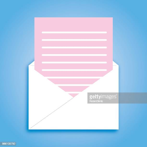 pink slip envelope icon - car ownership stock illustrations, clip art, cartoons, & icons