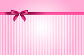 Pink stripes with pink ribbon background