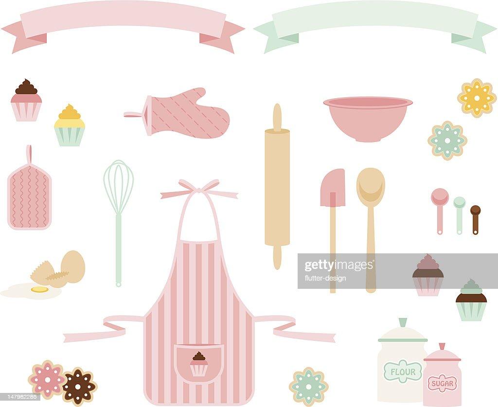 Pink Sugar Baking Icons