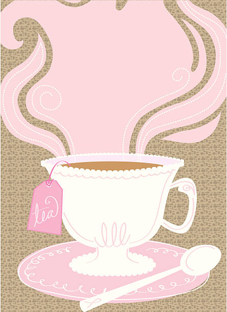 Pink Tea Party background