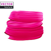 Pink vector smear on white background