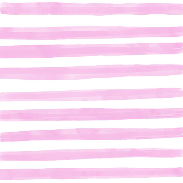 pink watercolor stripes pattern background. summer concept, design element. - pink stock illustrations
