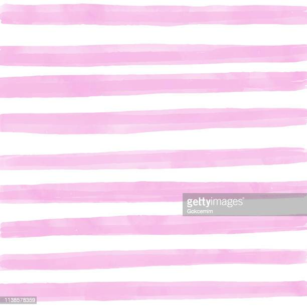 pink watercolor stripes pattern background. summer concept, design element. - striped stock illustrations